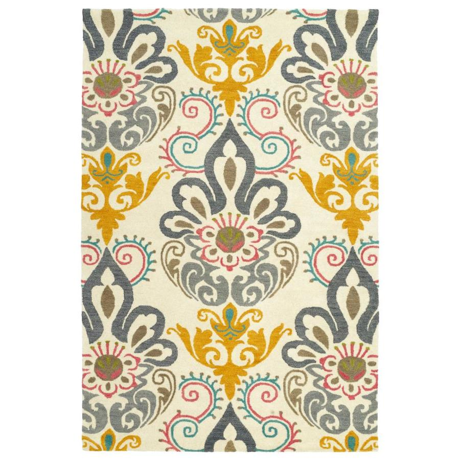 Kaleen Global Inspiration Multi Rectangular Indoor Handcrafted Southwestern Area Rug (Common: 5 x 8; Actual: 5-ft W x 7.75-ft L)