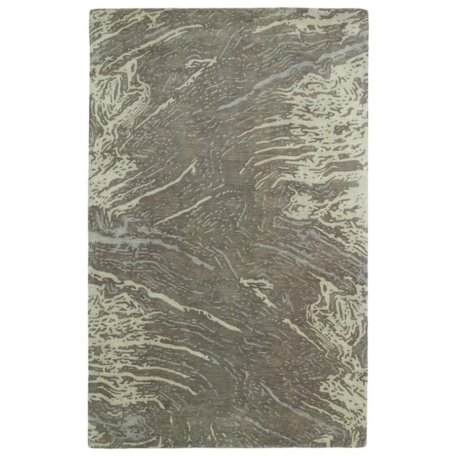 Kaleen Brushstrokes Brown Indoor Handcrafted Distressed Throw Rug (Common: 2 x 3; Actual: 2-ft W x 3-ft L)