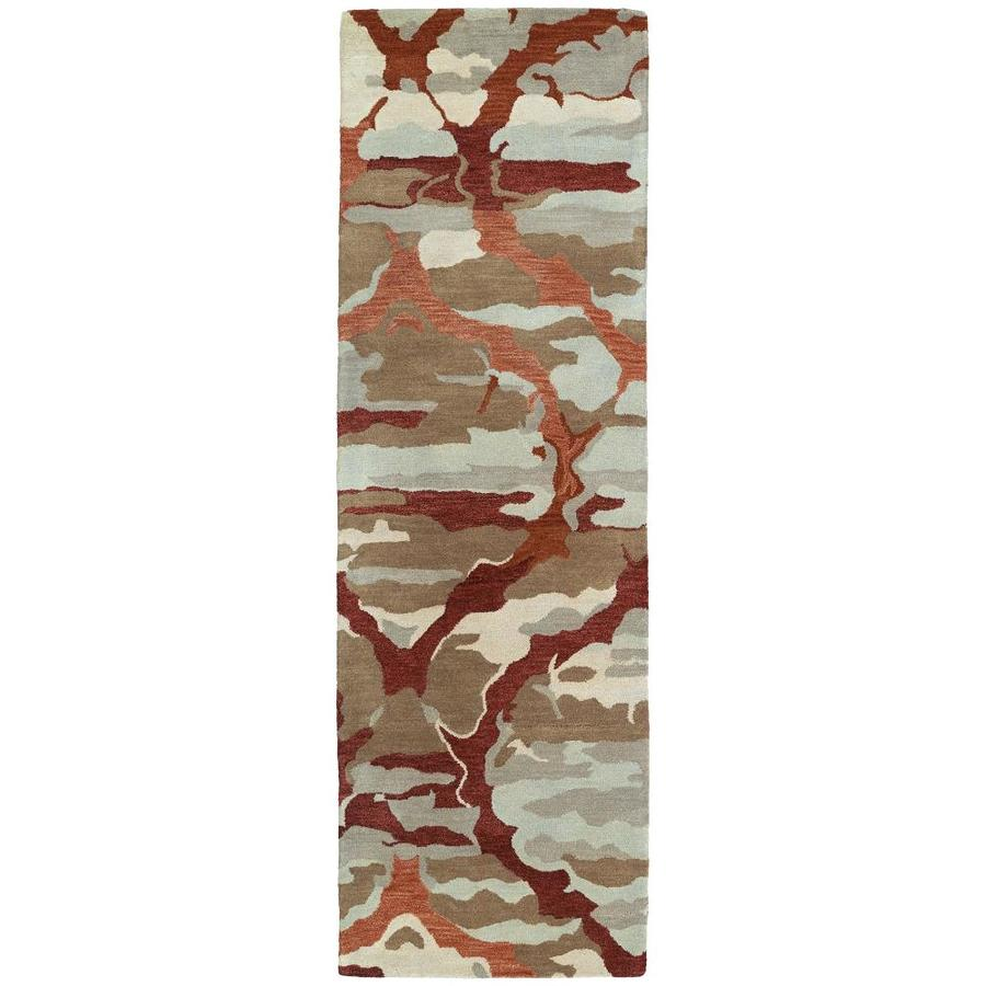 Kaleen Brushstrokes Red Indoor Handcrafted Distressed Runner (Common: 3 x 8; Actual: 2.5-ft W x 8-ft L)