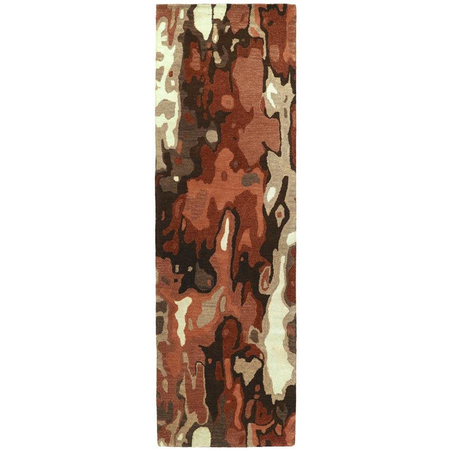 Kaleen Brushstrokes Rust 2-ft6-in x 8-ft Runner