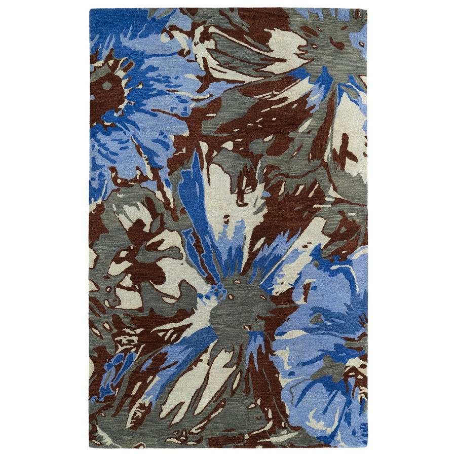 Kaleen Brushstrokes Multi Rectangular Indoor Handcrafted Distressed Area Rug (Common: 5 x 7; Actual: 5-ft W x 7.75-ft L x 0-ft Dia)