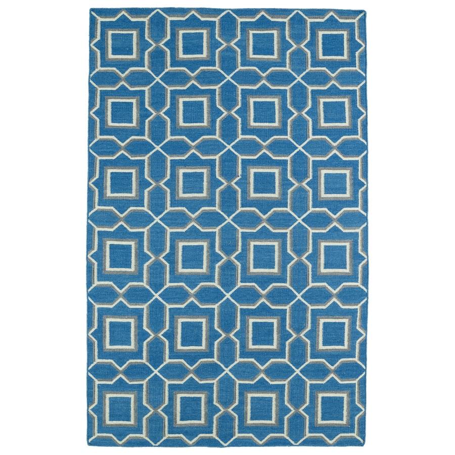 Kaleen Glam Teal Rectangular Indoor Handcrafted Moroccan Area Rug (Common: 8 x 10; Actual: 8-ft W x 10-ft L)