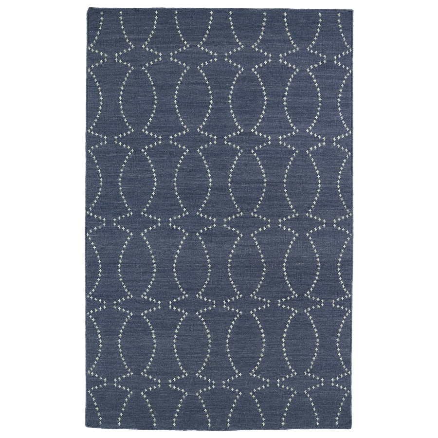 Kaleen Glam Grey Rectangular Indoor Woven Novelty Area Rug (Common: 5 x 8; Actual: 60-in W x 96-in L)