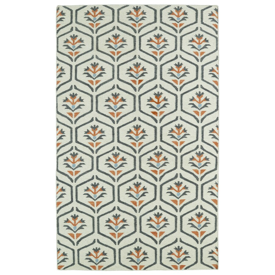 Kaleen Glam Coral Rectangular Indoor Woven Nature Area Rug (Common: 8 x 10; Actual: 96-in W x 120-in L)
