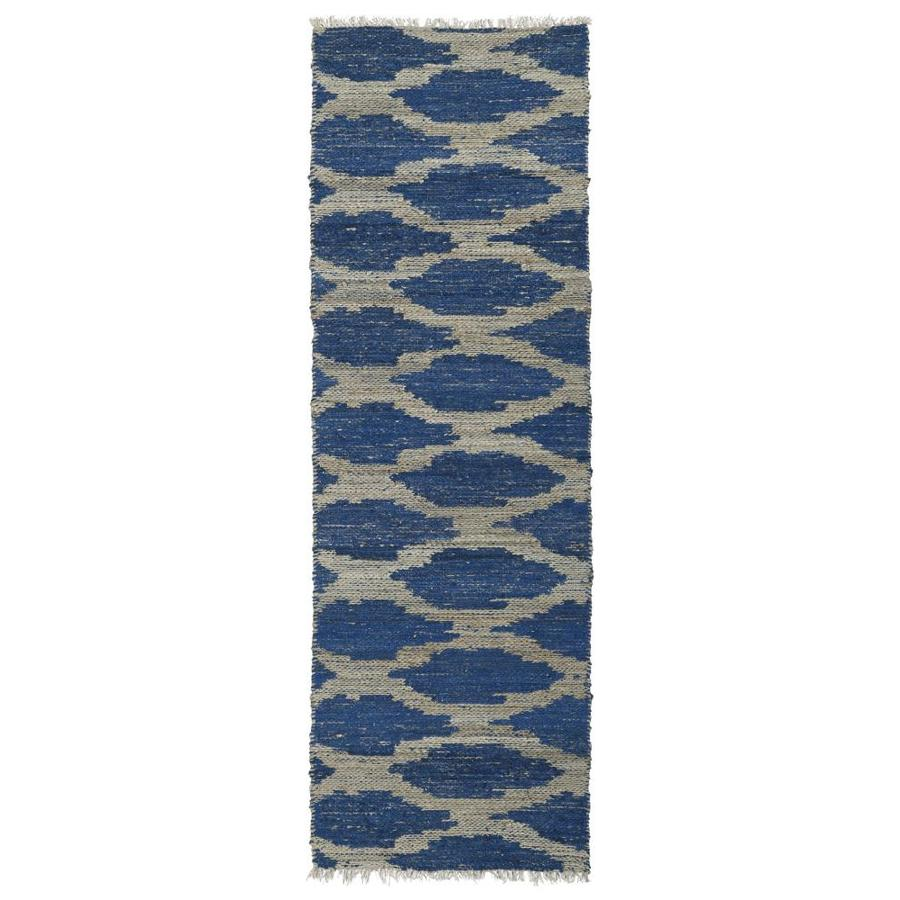 Kaleen Kenwood Navy Rectangular Indoor Handcrafted Oriental Runner (Common: 2 x 6; Actual: 2-ft W x 6-ft L)