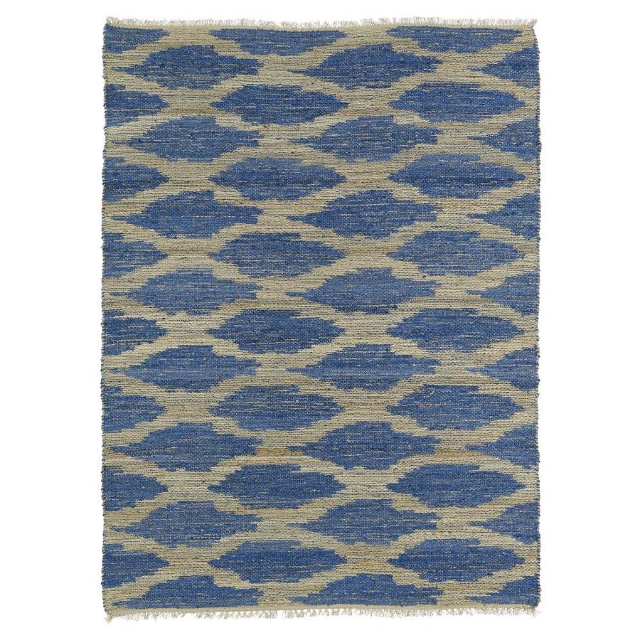 Kaleen Kenwood Navy Rectangular Indoor Handcrafted Oriental Area Rug (Common: 4 x 6; Actual: 3.5-ft W x 5.5-ft L)