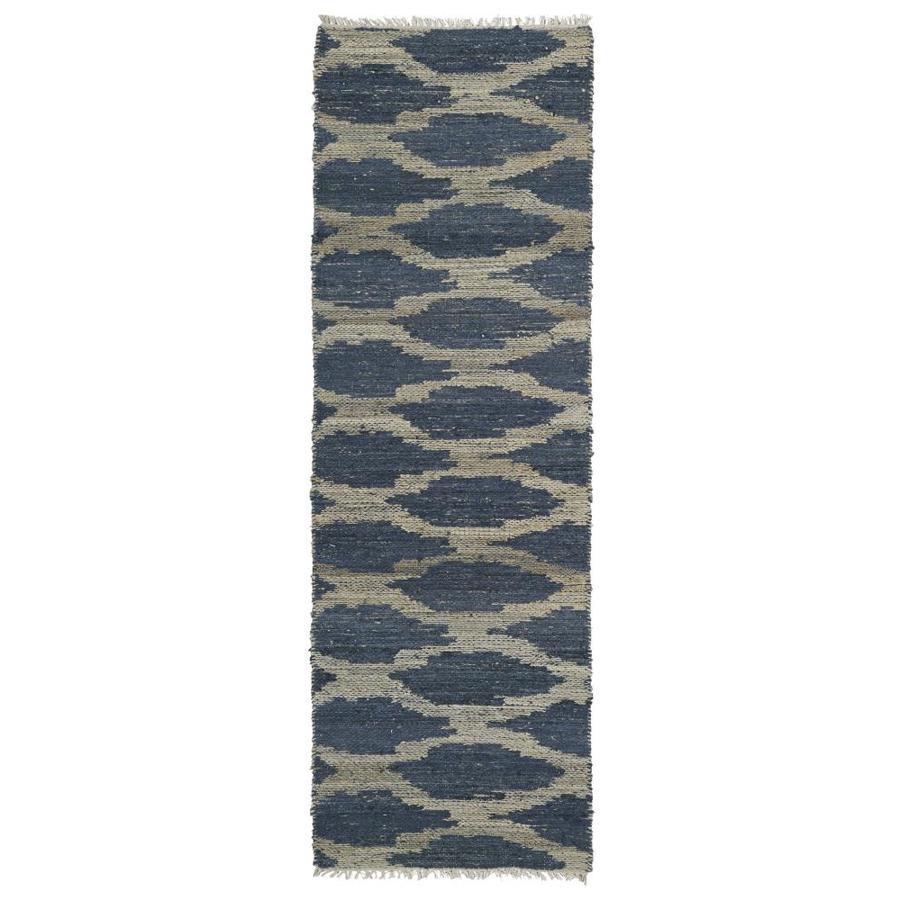 Kaleen Kenwood Denim Rectangular Indoor Handcrafted Oriental Runner (Common: 2 x 6; Actual: 2-ft W x 6-ft L)