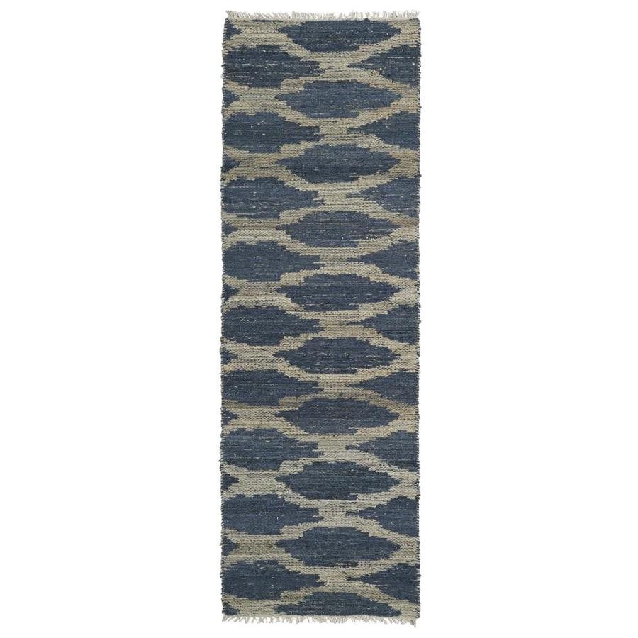 Kaleen Kenwood Denim Indoor Handcrafted Oriental Runner (Common: 2 x 8; Actual: 2.5-ft W x 8-ft L)