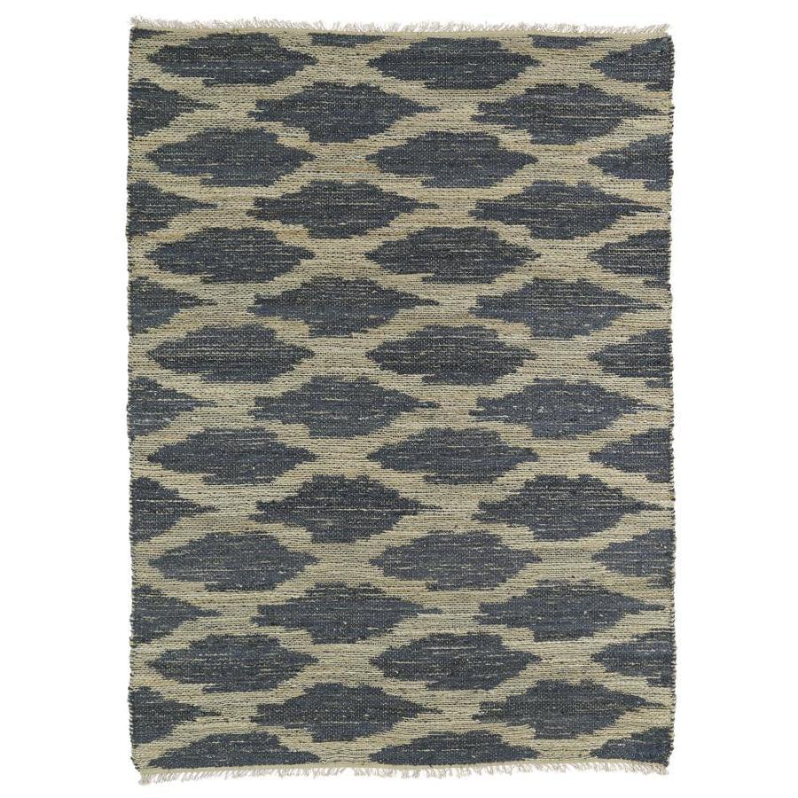 Kaleen Kenwood Denim Rectangular Indoor Handcrafted Oriental Area Rug (Common: 8 x 11; Actual: 8-ft W x 11-ft L)