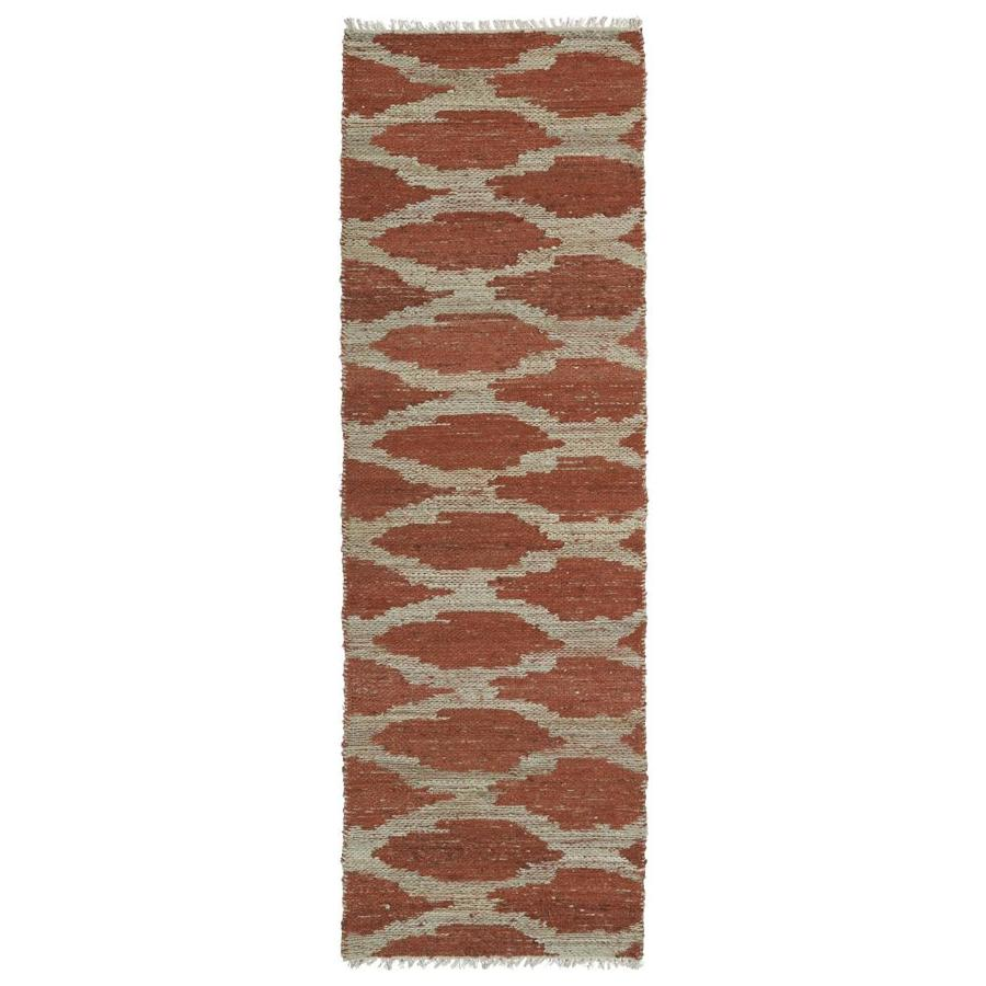 Kaleen Kenwood Paprika Rectangular Indoor Handcrafted Oriental Runner (Common: 3 x 8; Actual: 2.5-ft W x 8-ft L)