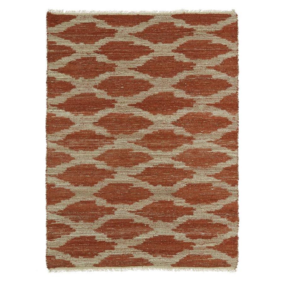 Kaleen Kenwood Paprika Indoor Handcrafted Oriental Area Rug (Common: 4 x 6; Actual: 3.5-ft W x 5.5-ft L)