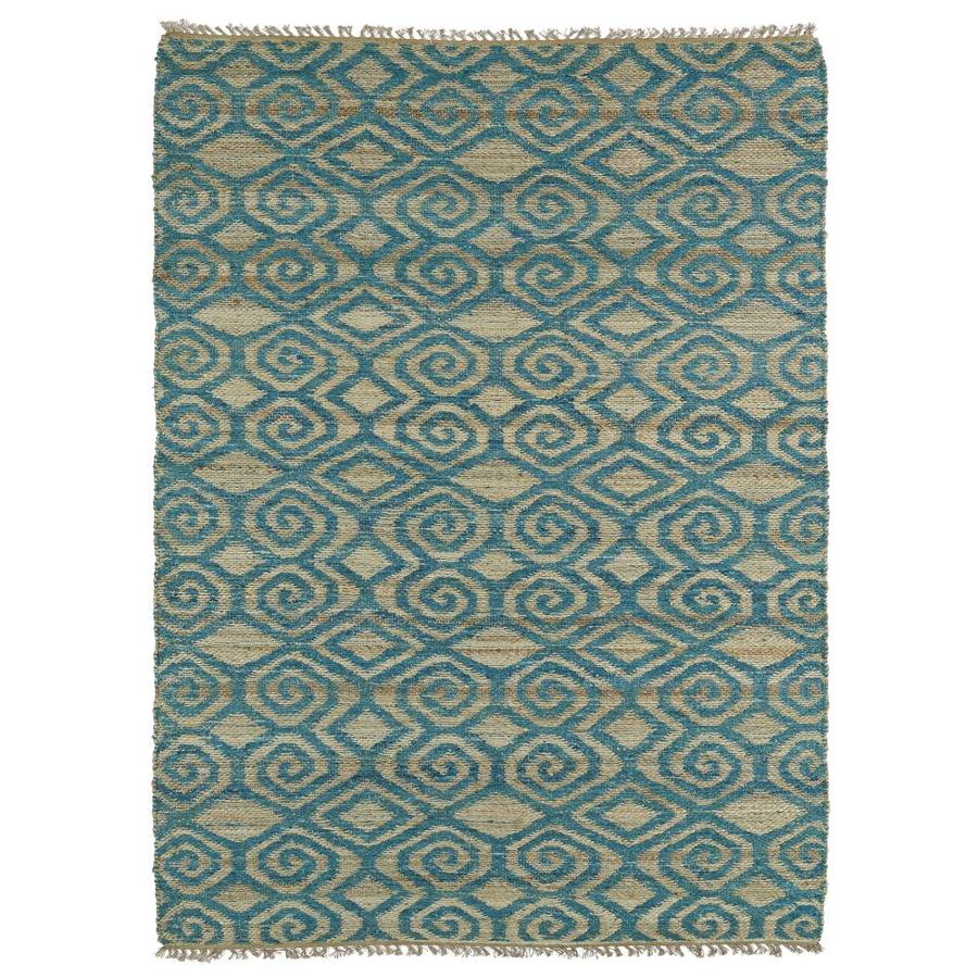 Shop Kaleen Kenwood Teal Indoor Handcrafted Oriental Area