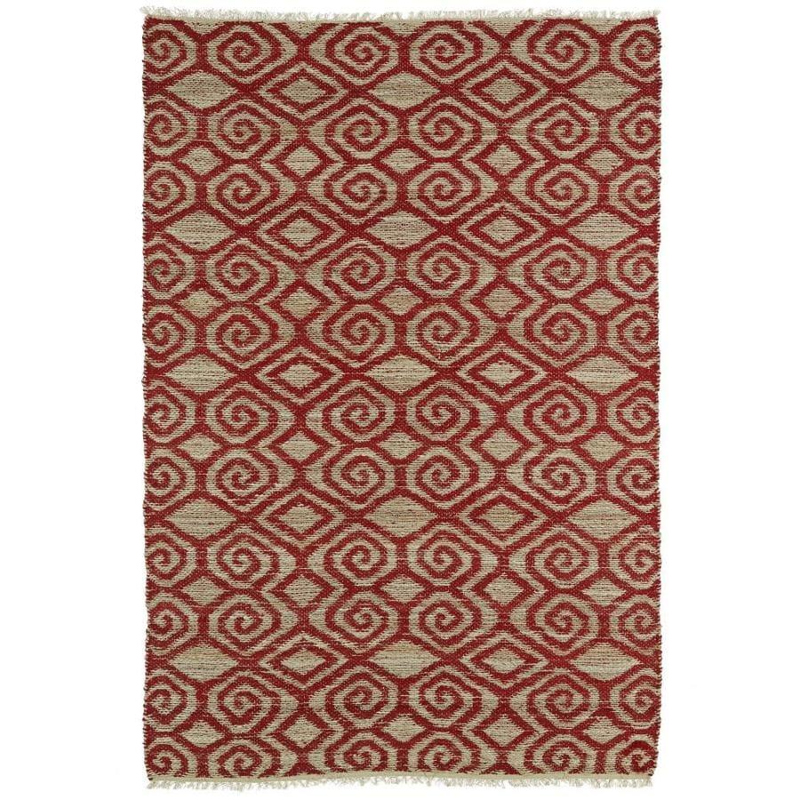 Kaleen Kenwood Red Rectangular Indoor Handcrafted Oriental Area Rug (Common: 5 x 8; Actual: 5-ft W x 7.75-ft L)