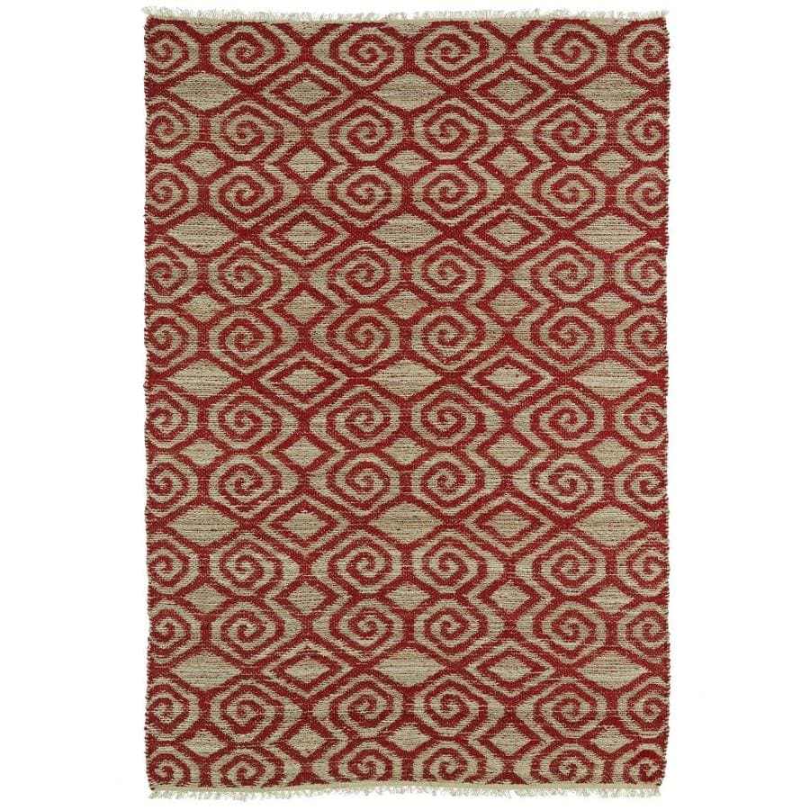 Kaleen Kenwood Red Indoor Handcrafted Oriental Area Rug (Common: 8 x 9; Actual: 7.5-ft W x 9-ft L)