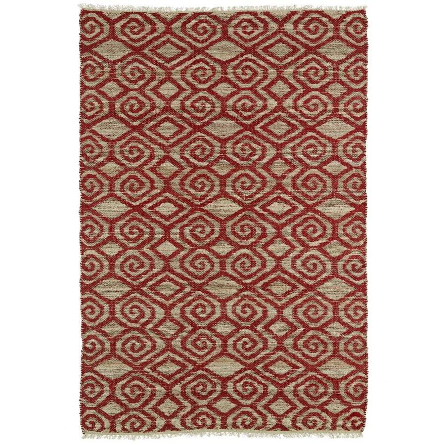 Kaleen Kenwood Red Rectangular Indoor Handcrafted Oriental Area Rug (Common: 8 x 11; Actual: 8-ft W x 11-ft L)
