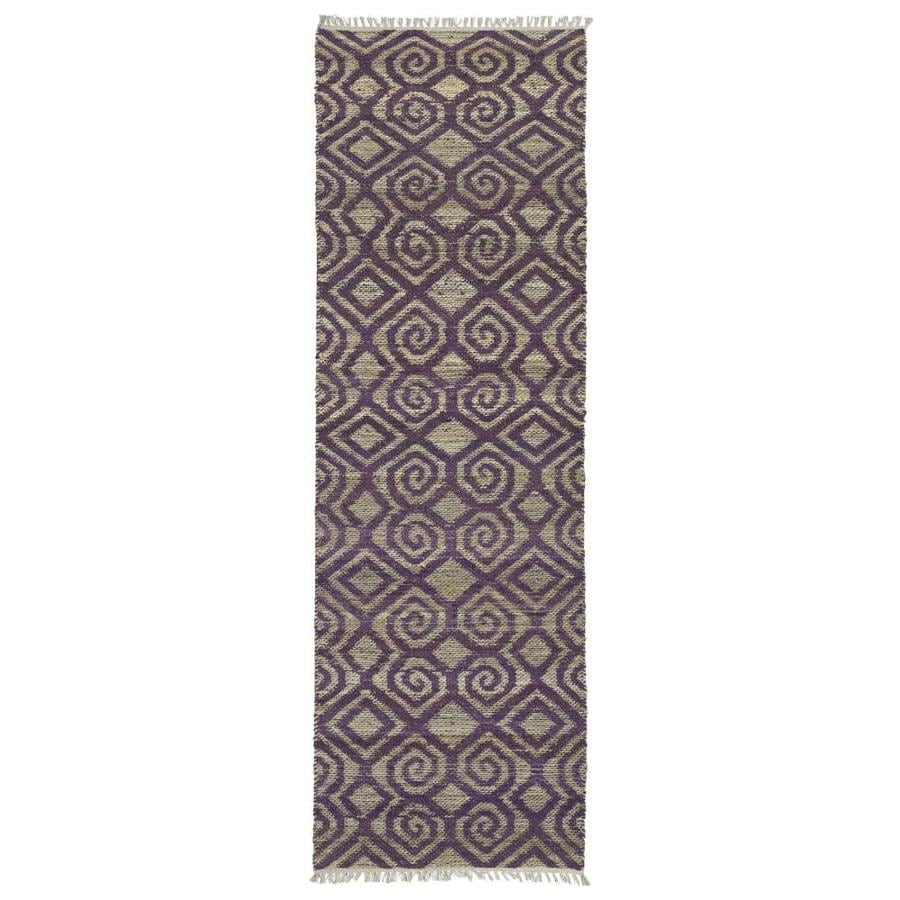 Kaleen Kenwood Plum Rectangular Indoor Handcrafted Oriental Runner (Common: 2 x 8; Actual: 2.5-ft W x 8-ft L)