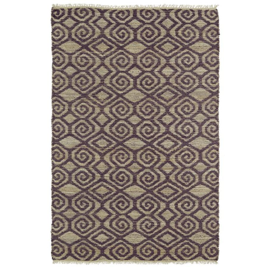 Kaleen Kenwood Plum Rectangular Indoor Handcrafted Oriental Area Rug (Common: 4 x 6; Actual: 3.5-ft W x 5.5-ft L)