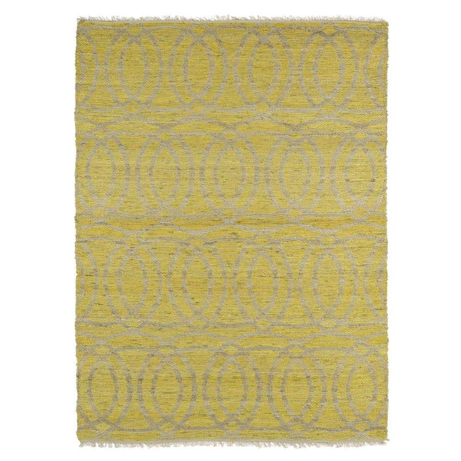 Kaleen Kenwood Yellow Rectangular Indoor Handcrafted Oriental Area Rug (Common: 5 x 8; Actual: 5-ft W x 7.75-ft L)