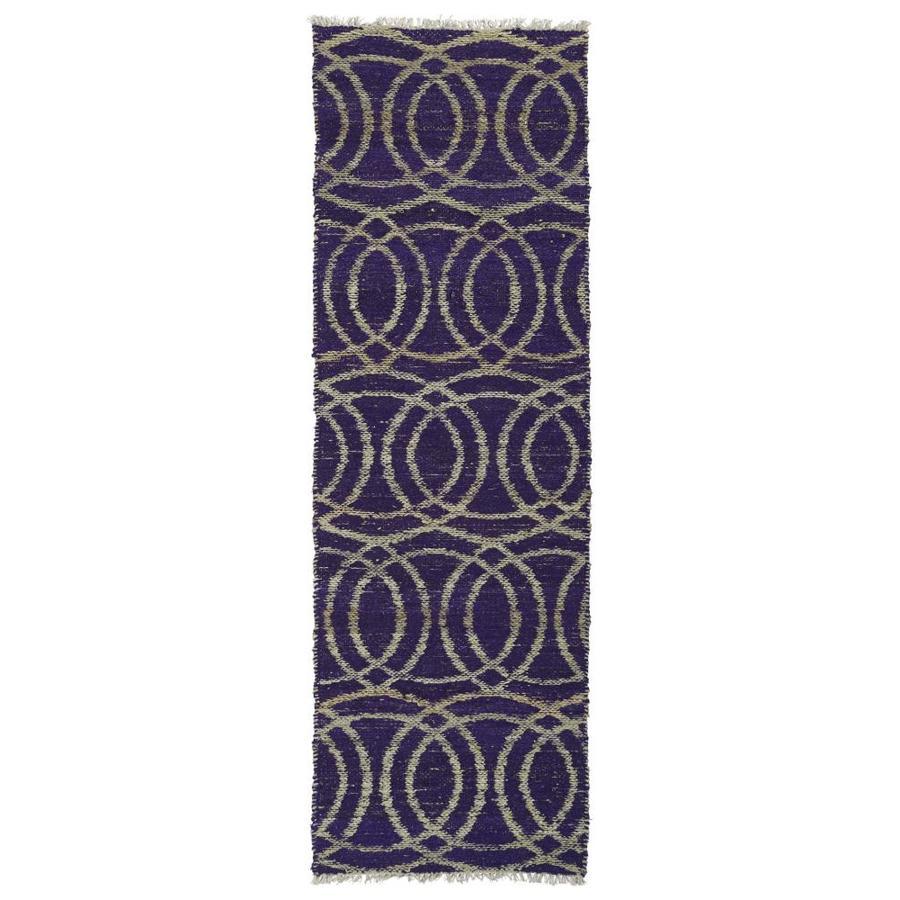 Kaleen Kenwood Purple Rectangular Indoor Handcrafted Oriental Runner (Common: 2 x 8; Actual: 2.5-ft W x 8-ft L)