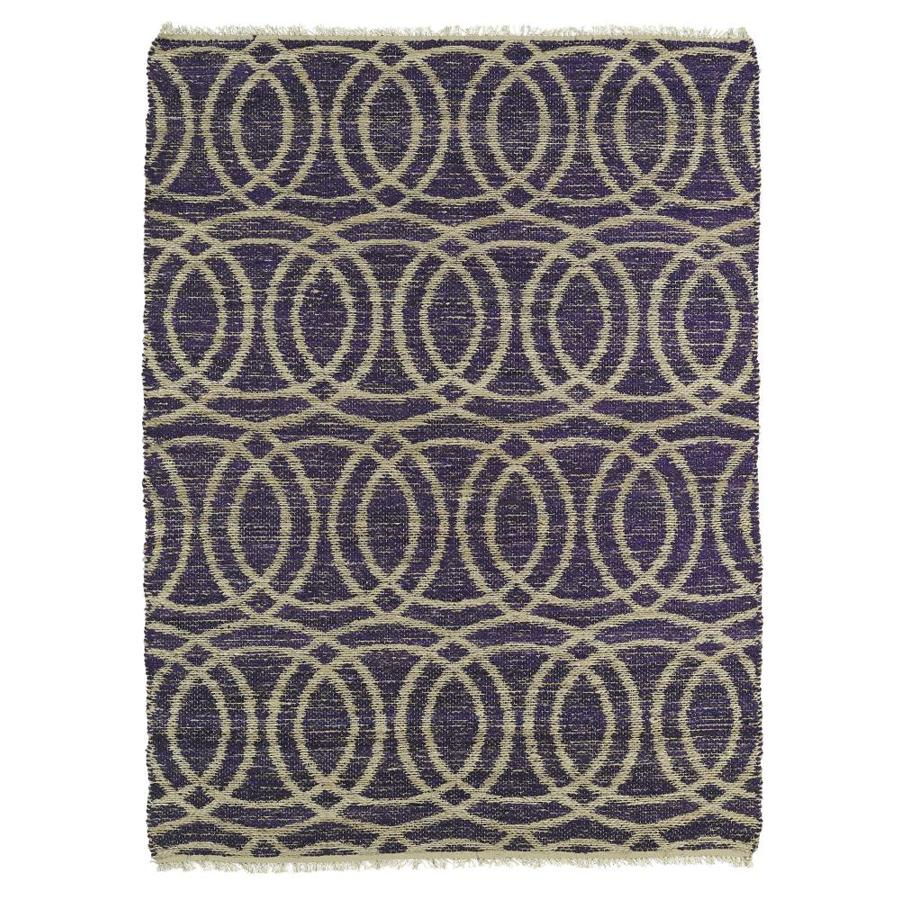 Kaleen Kenwood Purple Rectangular Indoor Handcrafted Oriental Area Rug (Common: 8 x 9; Actual: 7.5-ft W x 9-ft L)