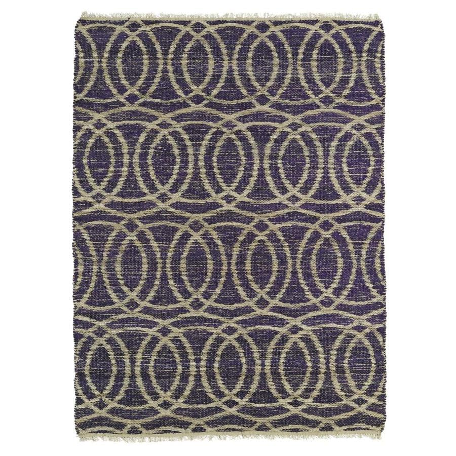 Kaleen Kenwood Purple Rectangular Indoor Handcrafted Oriental Area Rug (Common: 8 x 11; Actual: 8-ft W x 11-ft L)