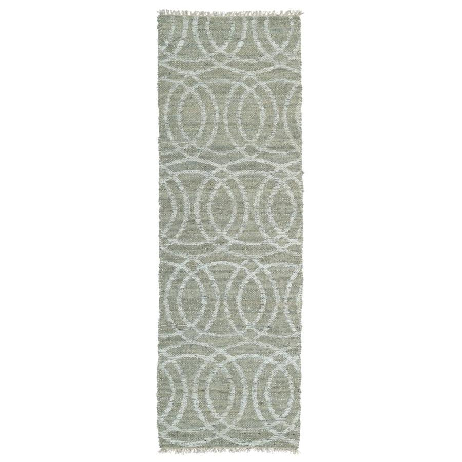 Kaleen Kenwood Grey Rectangular Indoor Handcrafted Oriental Runner (Common: 2 x 8; Actual: 2.5-ft W x 8-ft L)