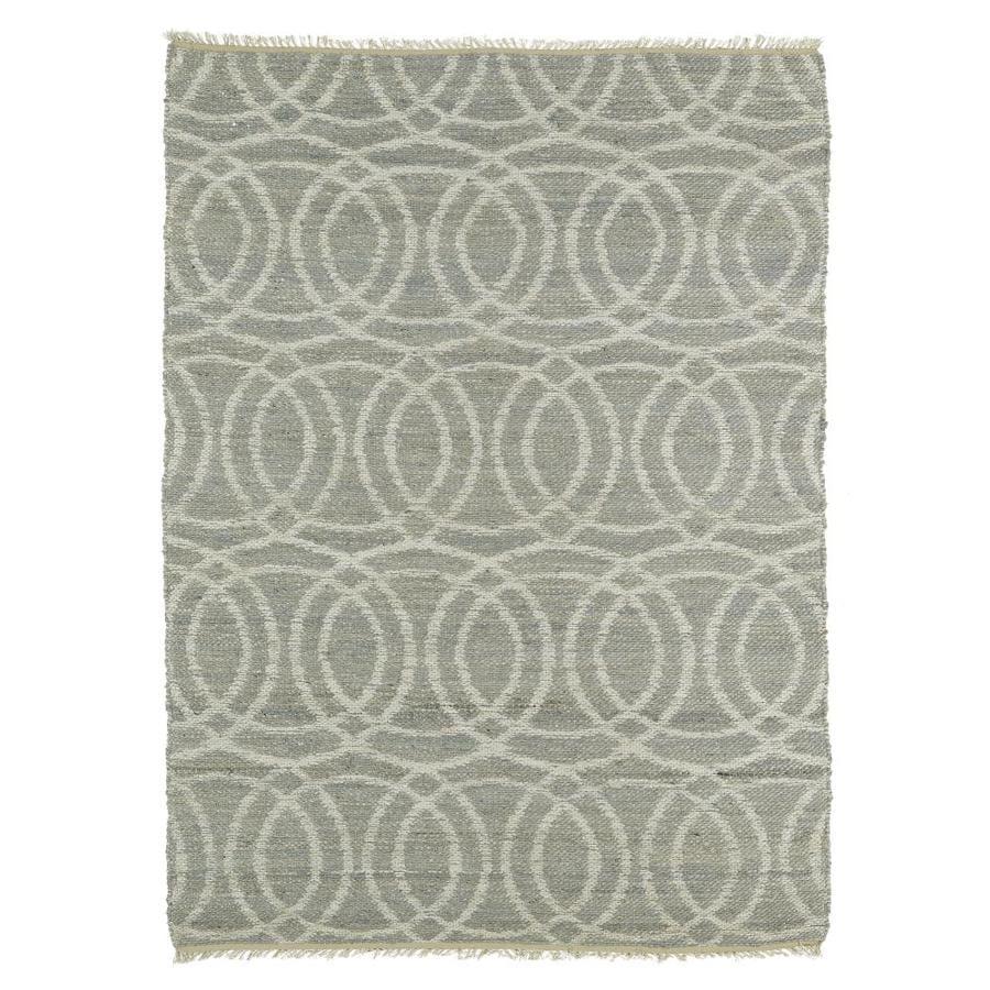 Kaleen Kenwood Grey Rectangular Indoor Handcrafted Oriental Area Rug (Common: 4 x 6; Actual: 3.5-ft W x 5.5-ft L)