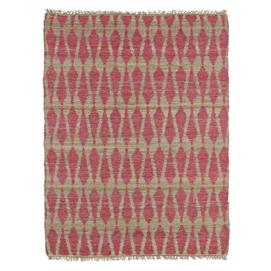 Kaleen Kenwood Pink Indoor Handcrafted Oriental Throw Rug (Common: 2 x 3; Actual: 2-ft W x 3-ft L)