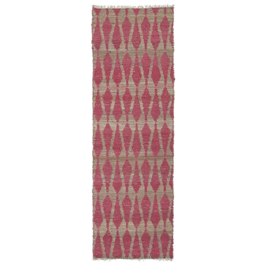 Kaleen Kenwood Pink Indoor Handcrafted Oriental Runner (Common: 2 x 8; Actual: 2.5-ft W x 8-ft L)