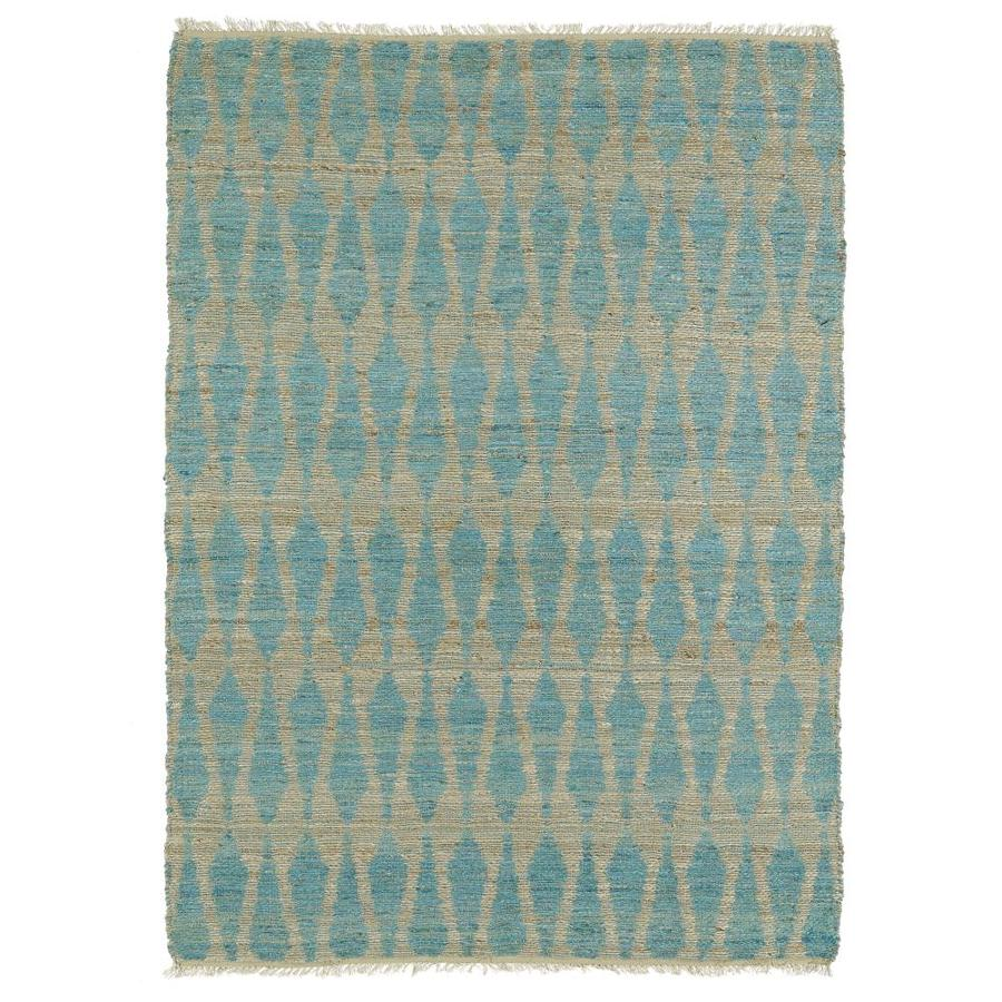 Kaleen Kenwood Teal Rectangular Indoor Handcrafted Oriental Area Rug (Common: 8 x 11; Actual: 8-ft W x 11-ft L)