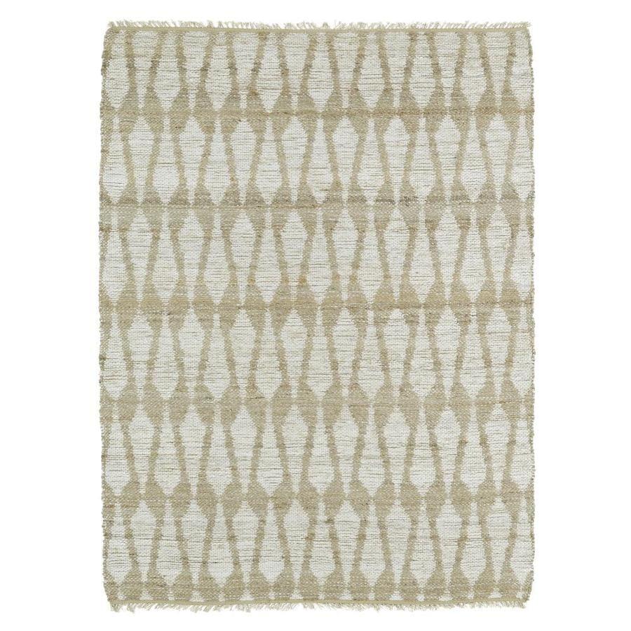 Kaleen Kenwood Ivory Rectangular Indoor Handcrafted Oriental Area Rug (Common: 5 x 8; Actual: 5-ft W x 7.75-ft L)