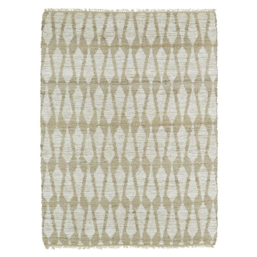 Kaleen Kenwood Ivory Rectangular Indoor Handcrafted Oriental Area Rug (Common: 8 x 9; Actual: 7.5-ft W x 9-ft L)