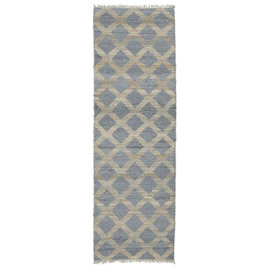 Kaleen Kenwood Slate Rectangular Indoor Handcrafted Oriental Runner (Common: 2 x 6; Actual: 2-ft W x 6-ft L)