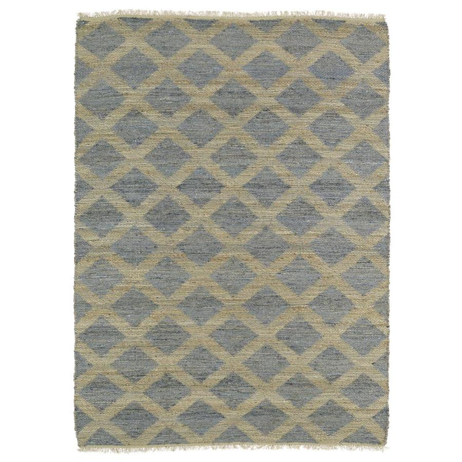 Kaleen Kenwood Slate Indoor Handcrafted Oriental Area Rug (Common: 4 x 6; Actual: 3.5-ft W x 5.5-ft L)