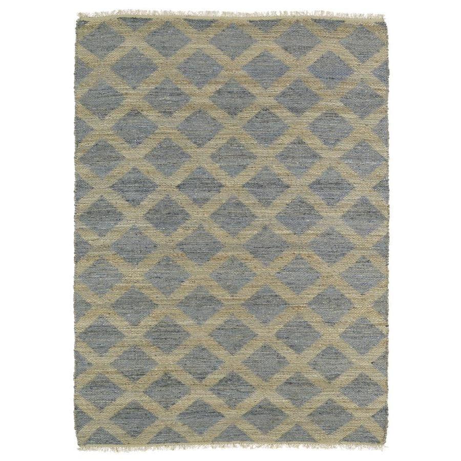 Kaleen Kenwood Slate Indoor Handcrafted Oriental Area Rug (Common: 8 x 9; Actual: 7.5-ft W x 9-ft L)