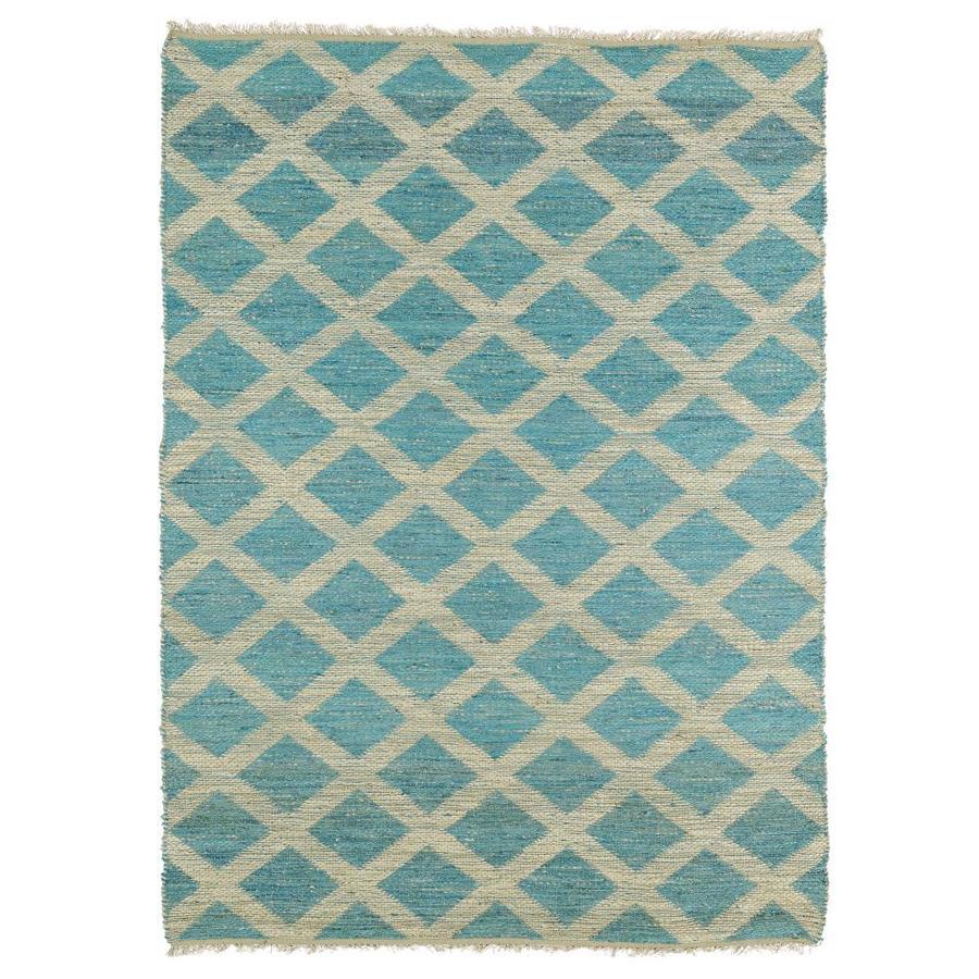 Kaleen Kenwood Teal Rectangular Indoor Handcrafted Oriental Area Rug (Common: 8 x 11; Actual: 8-ft W x 11-ft L)