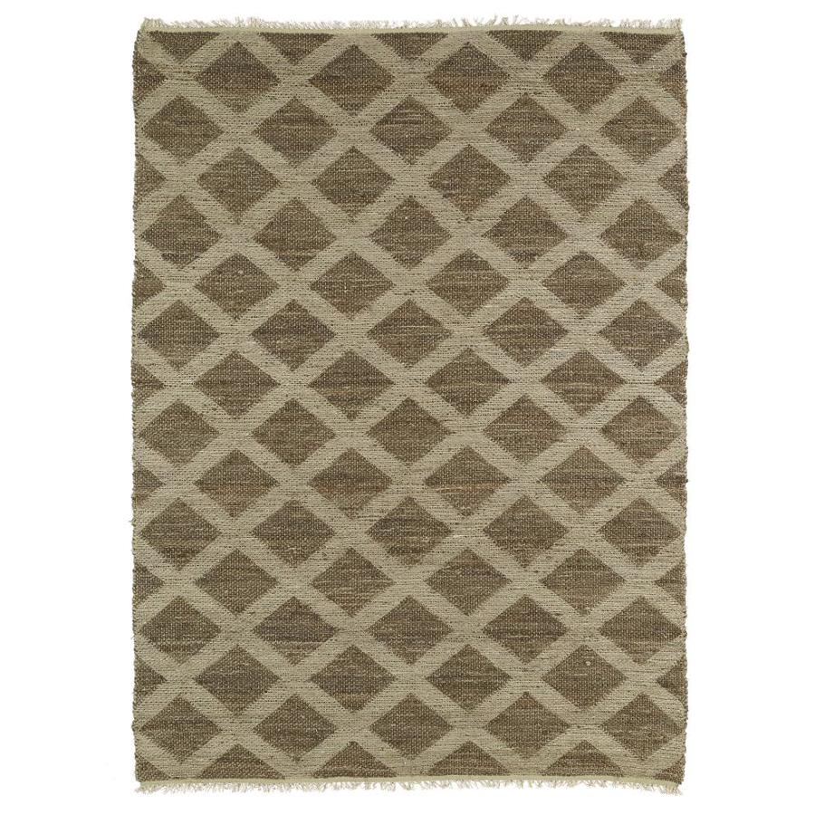 Kaleen Kenwood Chocolate Rectangular Indoor Handcrafted Oriental Area Rug (Common: 5 x 8; Actual: 5-ft W x 7.75-ft L)