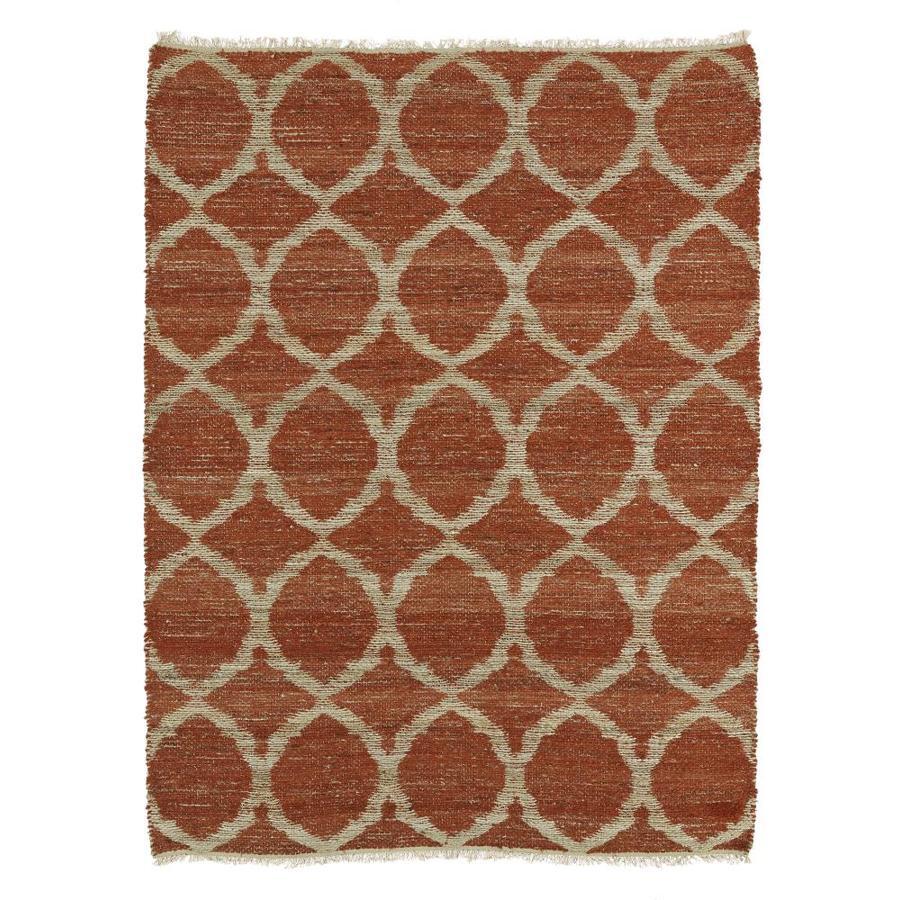 Kaleen Kenwood Rust Rectangular Indoor Handcrafted Oriental Area Rug (Common: 8 x 9; Actual: 7.5-ft W x 9-ft L)