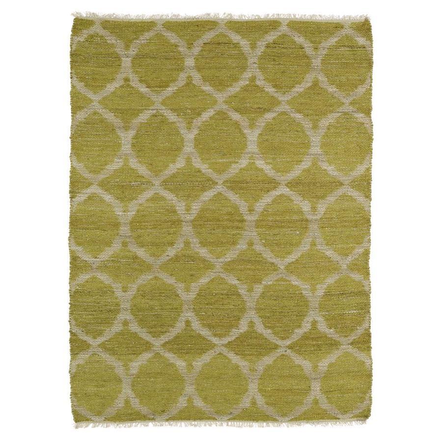 Kaleen Kenwood Wasabi Rectangular Indoor Handcrafted Oriental Area Rug (Common: 4 x 6; Actual: 3.5-ft W x 5.5-ft L)