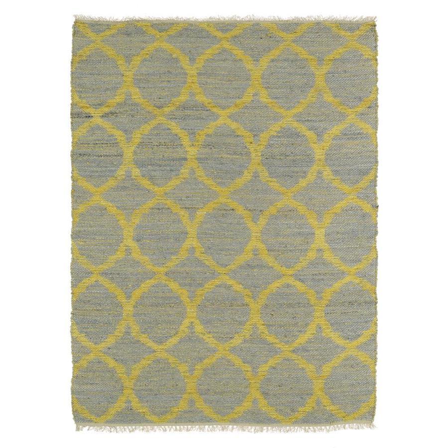Kaleen Kenwood Grey Rectangular Indoor Handcrafted Oriental Area Rug (Common: 8 x 9; Actual: 7.5-ft W x 9-ft L)