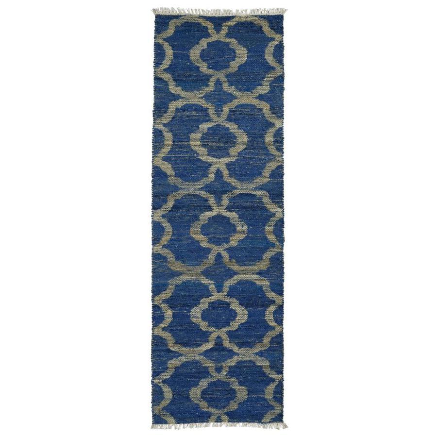 Kaleen Kenwood Blue Indoor Handcrafted Oriental Runner (Common: 2 x 8; Actual: 2.5-ft W x 8-ft L)