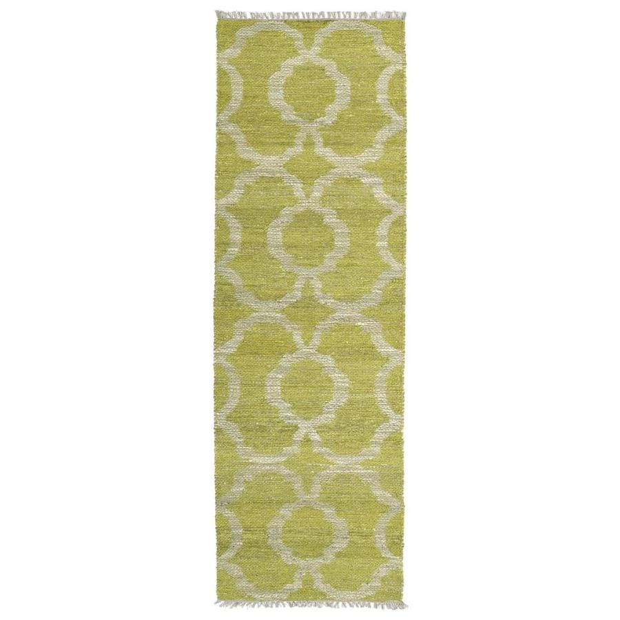 Kaleen Kenwood Lime Green Rectangular Indoor Handcrafted Oriental Runner (Common: 2 x 6; Actual: 2-ft W x 6-ft L)