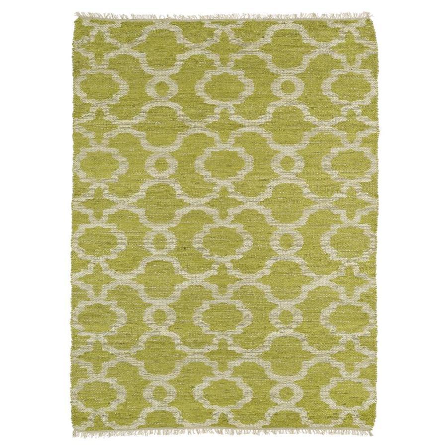 Kaleen Kenwood Lime Green Rectangular Indoor Handcrafted Oriental Area Rug (Common: 8 x 9; Actual: 7.5-ft W x 9-ft L)