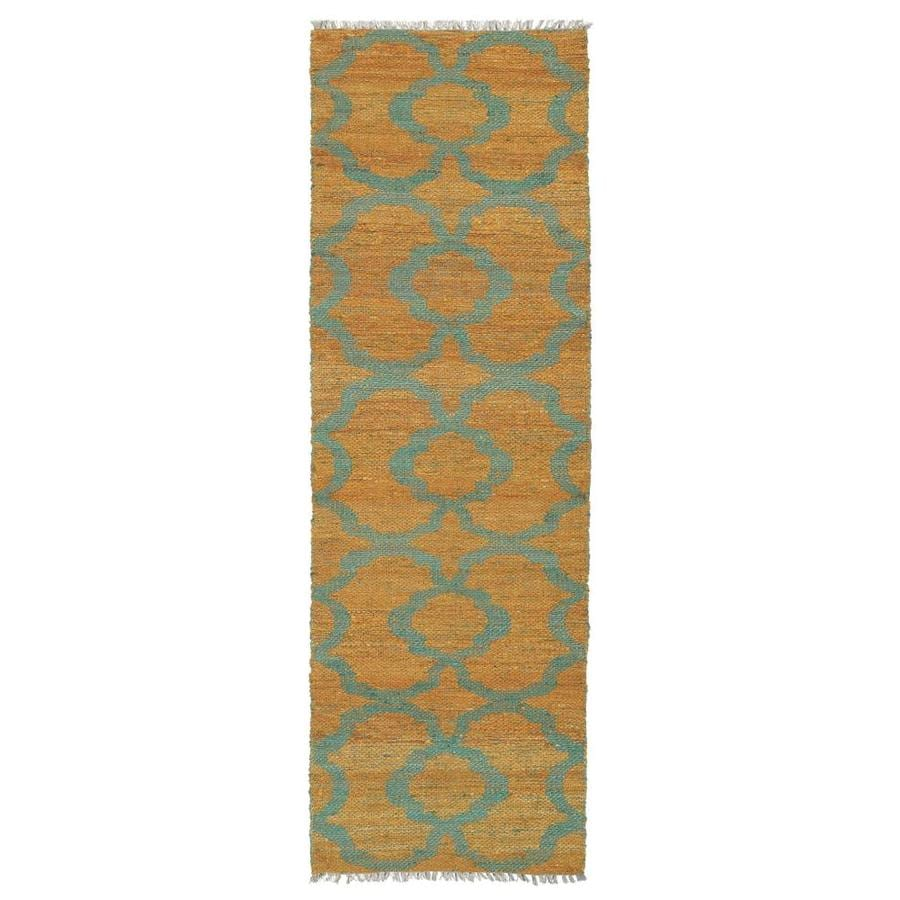 Kaleen Kenwood Turquoise Rectangular Indoor Handcrafted Oriental Runner (Common: 2 x 6; Actual: 2-ft W x 6-ft L)