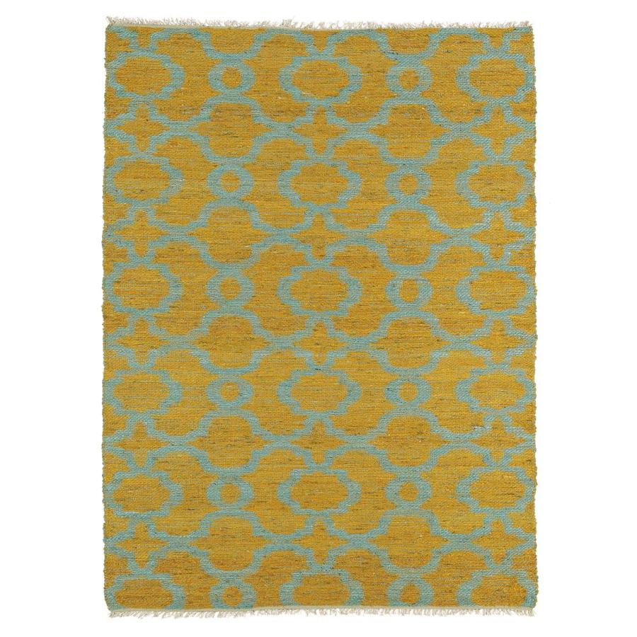 Kaleen Kenwood Turquoise Rectangular Indoor Handcrafted Oriental Area Rug (Common: 5 x 8; Actual: 5-ft W x 7.75-ft L)