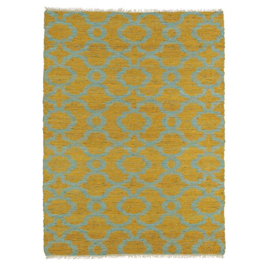 Kaleen Kenwood Turquoise Rectangular Indoor Handcrafted Oriental Area Rug (Common: 8 x 11; Actual: 8-ft W x 11-ft L)