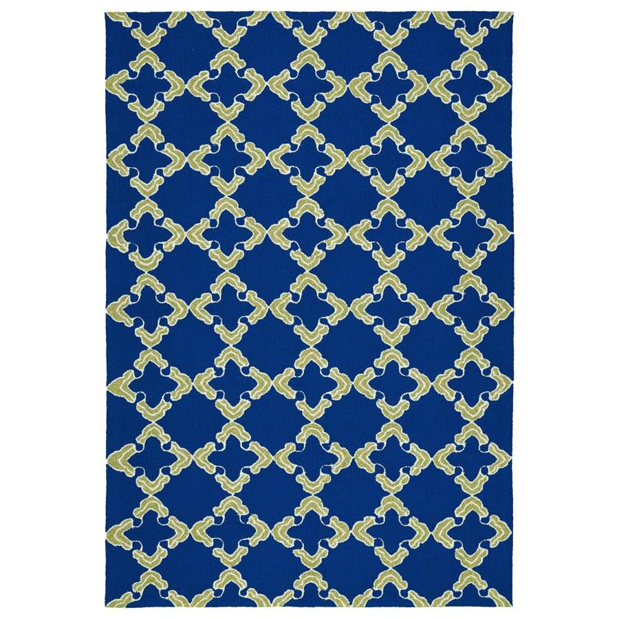 Kaleen Escape Navy Indoor/Outdoor Handcrafted Coastal Area Rug (Common: 5 x 8; Actual: 5-ft W x 7.5-ft L)