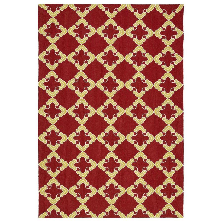 Kaleen Escape Red Rectangular Indoor/Outdoor Handcrafted Coastal Area Rug (Common: 8 x 10; Actual: 8-ft W x 10-ft L)