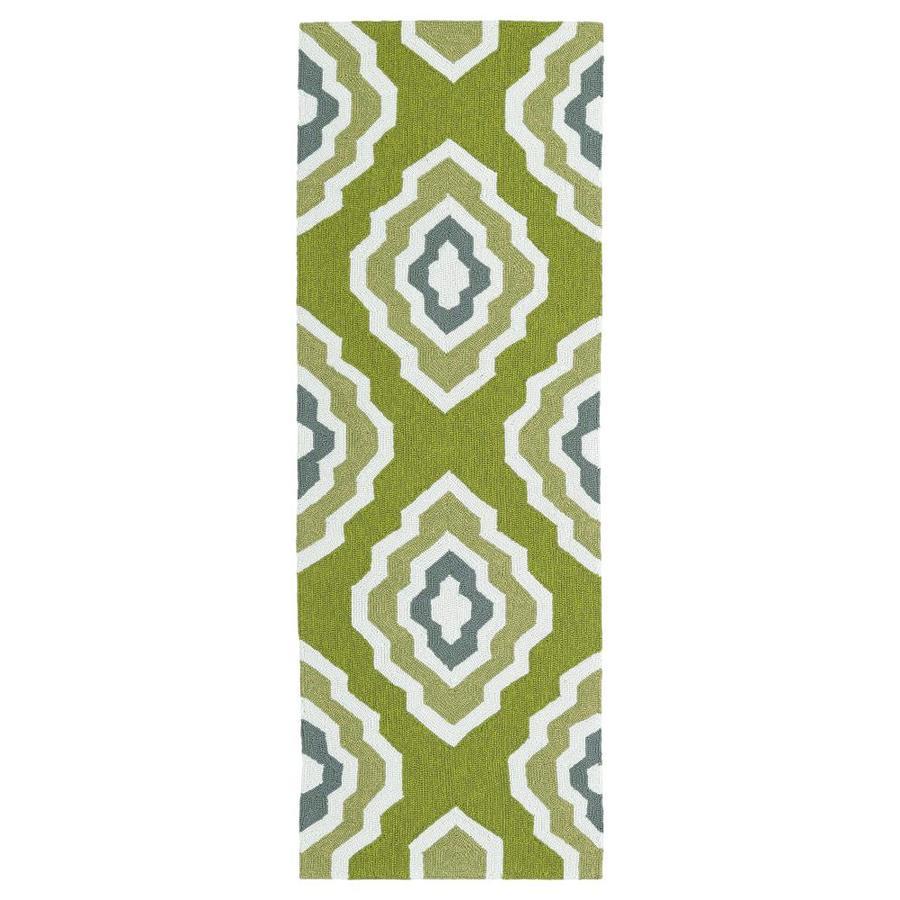 Kaleen Escape Green Rectangular Indoor/Outdoor Handcrafted Coastal Runner (Common: 2 x 6; Actual: 2-ft W x 6-ft L)