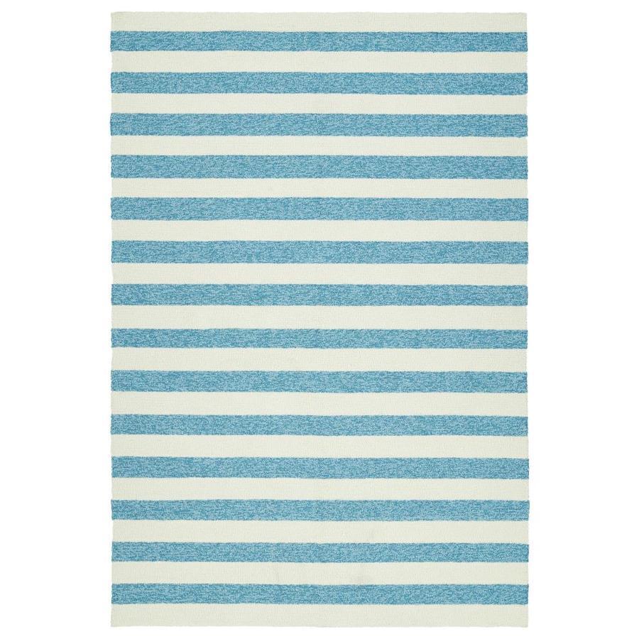 Kaleen Escape Blue Rectangular Indoor/Outdoor Handcrafted Coastal Area Rug (Common: 5 x 8; Actual: 5-ft W x 7.5-ft L)